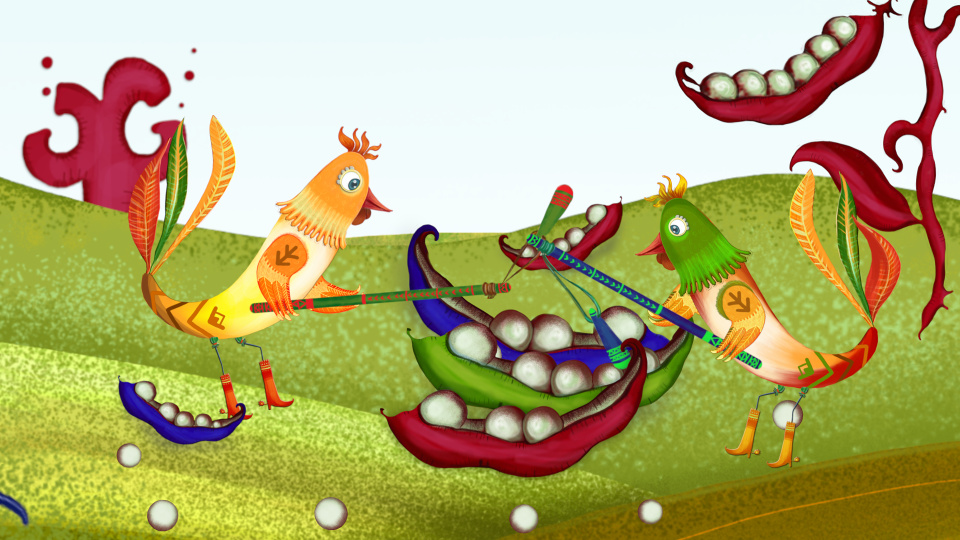Two roosters - Animated Nursery Rhyme