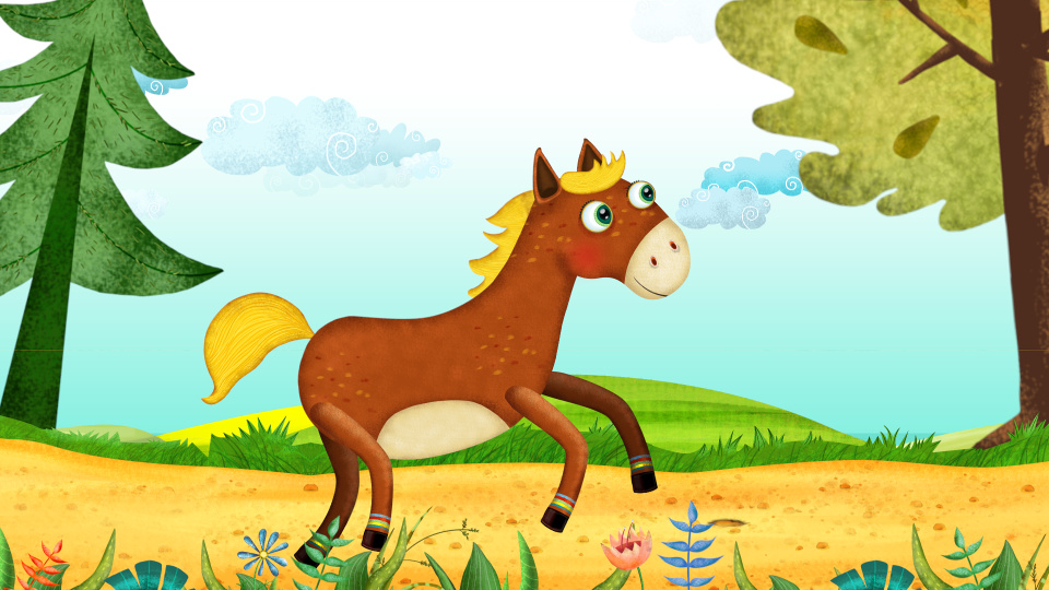 What a horse - Animated Cartoon Song